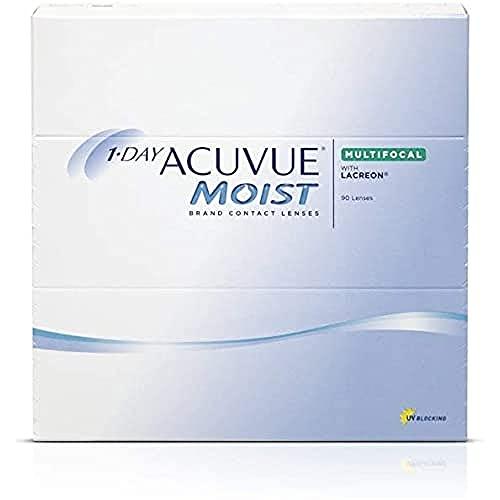 Acuvue 1-Day Moist Multifocal Tageslinsen weich, 90 Stück / BC 8.4 mm / DIA 14.3 / 2.5 Dioptrien / ADD HIGH