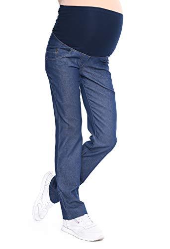 Mija - Pantaloni comodi Jeans alta qualit? Premaman 9036 (IT 48, Blu scuro)