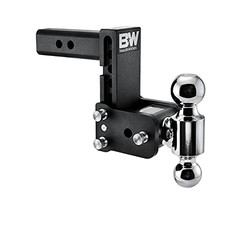 """B&W Trailer Hitches Tow & Stow - Fits 2"""" Receiver, Dual Ball (2"""" x 2-5/16""""), 5"""" Drop, 10,000 GTW - TS10037B"""