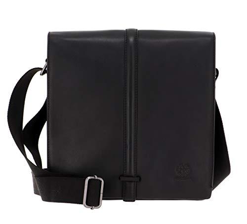 STRELLSON-Leather Shoulder-Bag BAKERLOO MVF Black 28x28x10