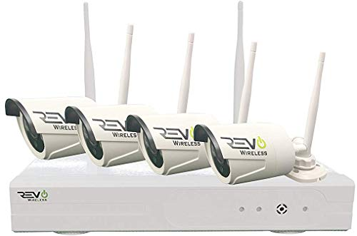 Revo America Wireless 4 Ch. NVR Surveillance System with 4 HD Wireless Bullet Cameras