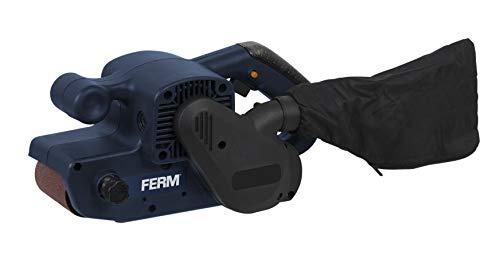 FERM Bandschleifmaschine 900W - Mit Schleifband P80 und Staubfangsack