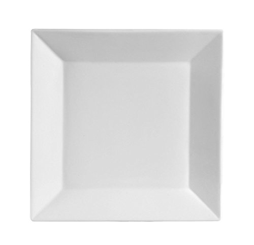 CAC China Porcelin Plate, 10-Inch, Super White, Box of 12