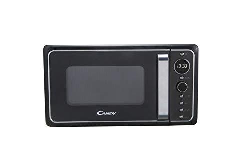 Candy Microonde Gril DIVO G25CB, 25 litri, programmatore digitale, 6 livelli di potenza, applicazione Cook-In, Design Retro, Colore Nero