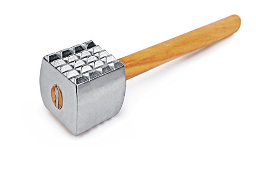 New Star Foodservice 36398 Wood Handle Aluminum Meat Tenderizer/Mallet/Hammer 13Inch Overall