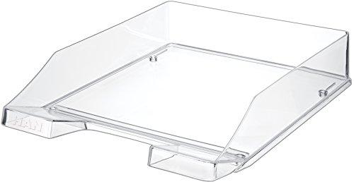 HAN 1026-X-23, Briefablage KLASSIK, 12 Stück, Modern, Schick, Transparent und Hochglänzend, 12er Packung, transparent-glasklar (klar)