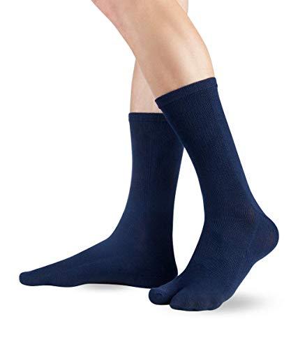Knitido Traditionals Tabi, klassische wadenlange Zwei-Zehen-Socken aus Japan, Größe:39-42,...