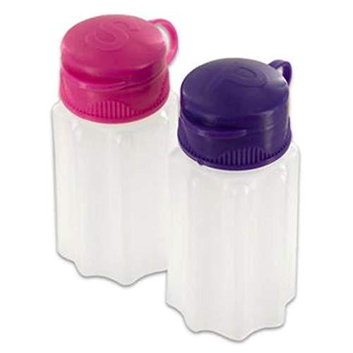 Durable Plastic Camping Mini Salt and Pepper Shaker Set with Flip Lids