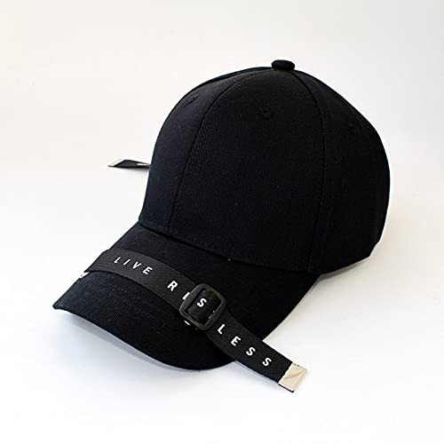 UKKD Casquette de Baseball Sun Cap Long Belt Letter Off White Black Baseball Cap All Kinds of Sunshade Casual Men's Hats Women's Hat