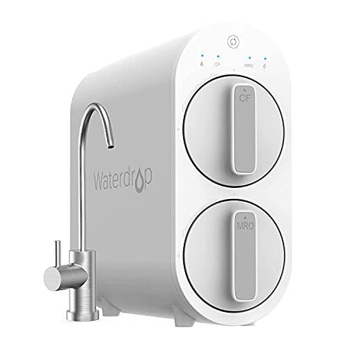 Waterdrop G2 RO Sistema de Filtración de Agua por Osmosis Inversa, sin Tanque, 1514 Litros por día, Reduce la Dureza del Agua y El TDS, 1: 1 Puro para Drenar, Listado FCC, WD-G2-W, Blanco