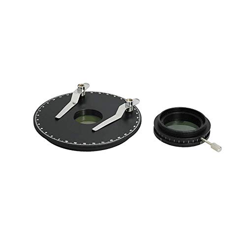 BoliOptics Simple Rotating Polarizer Kit for Microscope, with Stage Plate + Clips SA41141101