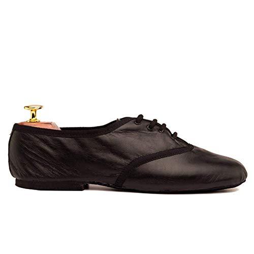 Manuel Reina - Zapatos de Baile Latino Hombre Jazz Black - Bailar Bachata y Salsa - Zapatos de Jazz (46 EU)