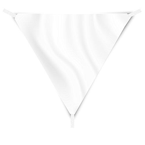 EGLEMTEK Tenda Parasole Triangolare a Vela Telo da Sole da Esterno - Protezione dai Raggi UV - Tessuto in Polietilene Resistente e Impermeabile - Colore Bianco (5x5x5 m)