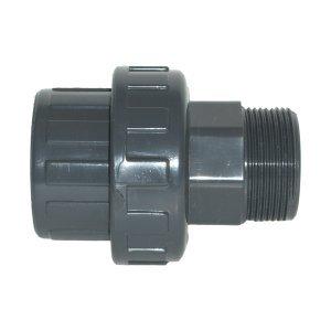 PISCINEO Union démontable PVC 1'' 1/2 mâle d'un côté et diam. 50 de l'autre