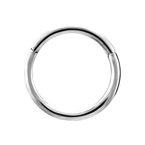 Karisma Titan G23 Hinged Segmentring Charnier/Septum Clicker Helix Ring Piercing Ohrring Stärke 1,0x7mm