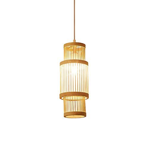 WFZRXFC Personalidad Original Colgante Luz Estilo japonés Escritorio Reverenciamiento Lámpara Colgante Lámpara de Bambú Natural Chandelier Classic Art Light Light Finxture LED E27