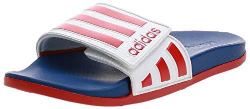 adidas Herren Adilette Comfort ADJ Fußballschuh, FTWR Weiss Scarlet Royal Blue Team, 40.5 EU
