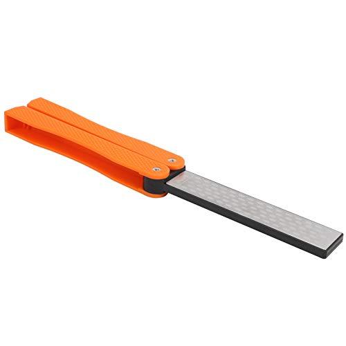 Afilador de cuchillos, afilador de cuchillos plegable - naranja duradera en forma de textura para exteriores