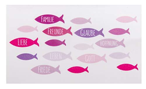 Rayher 31611264 Wachsmotiv Fische, pink, 8,5 x 5 cm, 1 Stück, zum Gestalten von Kerzen (Firmung, Konfirmation, Kommunion etc.)