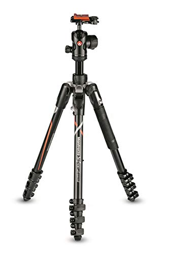 Manfrotto Befree Advanced Compatibile con Fotocamere Sony Alpha7 e Alpha9, Kit Treppiede da Viaggio con Testa a Sfera e Chiusura a Leva, Treppiede in Alluminio per Accessori Fotografia