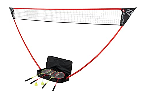 Zume Games Portable Badminton Set with...