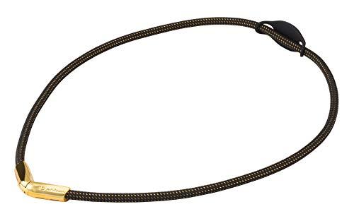 ファイテン(phiten) ネックレス RAKUWAネックX50 Vタイプ 阪神タイガースモデル ブラック/ゴールド 50cm