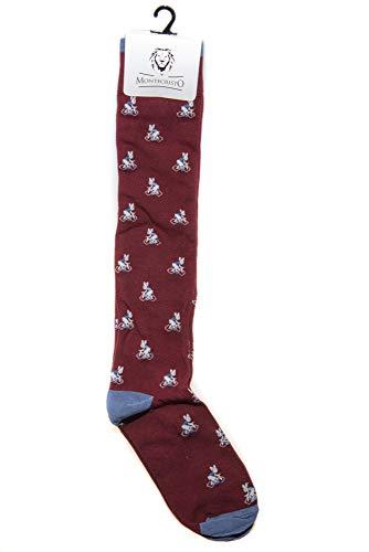 Montecristo Fancy Socken für Herren, Dedoles Socken, Kniestrümpfe (Bordeaux)