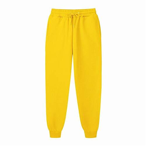 YUNSW Herren Fitness Sporthose Einfarbig Herren Gebürstete Freizeithose Farbe Jogginghose Sportschutzhose Hose