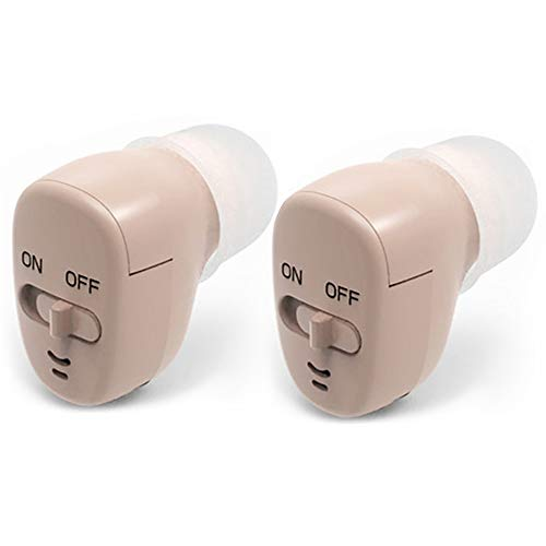 1 Pair (2 Packs) of Hearing Aid Amplifiers Noise Eliminating Battery-Operated Suitable for Adults and Seniors