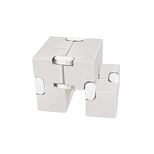 lujiaoshout Cube Infinity en métal Durable en Alliage d'aluminium Décompression Jouets Réduction de la Pression Jouets éducatifs Stress Relief Jeux Toy Place Cube pour Adultes et Enfants