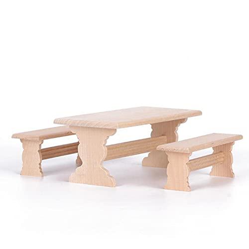 Sedia da Tavolo per Casa delle Bambole Mobili per Casa delle Bambole in Legno Scala 1:12 Accessori per Casa delle Bambole Stabile e Durevole Accessori