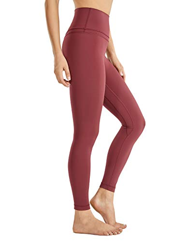 CRZ YOGA Women's Naked Feeling I High Waist Tight Yoga Pants Workout Leggings-25 Inches Savannah Red 25'' - R009 Medium