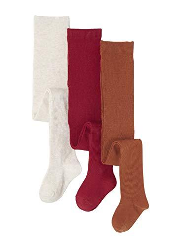 Vertbaudet Lote de 3 Collants em Jersey Vermelho Médio Bicolor/multico