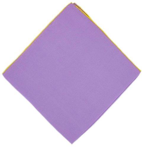 Michelsons of London Mouchoir lilas/jaune serré frontière de