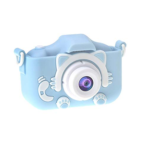 Fantastic Prices! LIAN X5 Children's Camera Toy Cat Mini Digital Camera, Front and Rear Dual Cameras, High-definition 2000W Pixels, with Memory Card, Gifts for Boys And Girls (Color : Blue, Size : 16G)