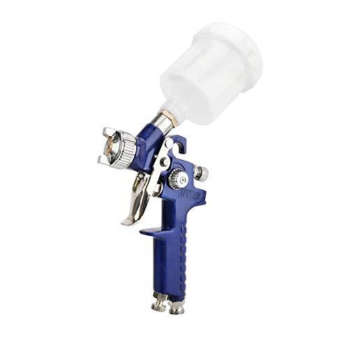 Blau Professionelle HVLP Luftpistole Lackierer 120ml Gravity Feed-Airbrush Kit Car Möbel Malwerkzeug Sprühen