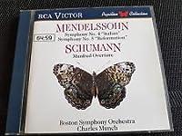 Symphonies Nos.4 & 5 / Manfred Overture : Bostonsymphony / Munch