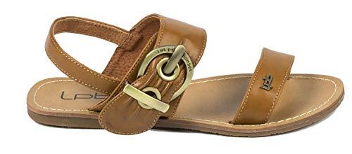 Les P\'tit Bombes Damen-Sandalen, modern, bequem und hochwertig, Braun - Handstativ 7 Camel - Größe: 36 EU