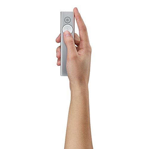 Logitech Spotlight Präsentations-Fernbedienung, kabellos, USB-fähig, Bluetooth, Blidschirm-Lupenfunktion, Reichweite - 30 m, silberfarben