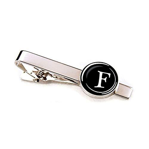 HND ZNXHNDSH Hombres Moda 26 Clips de Las Letras del Alfabeto Corbata Nombre de Personalidad Cartas joyería de los Hombres Corbata de Accesorios de la Pinza Pin Traje (Color : Letter F)