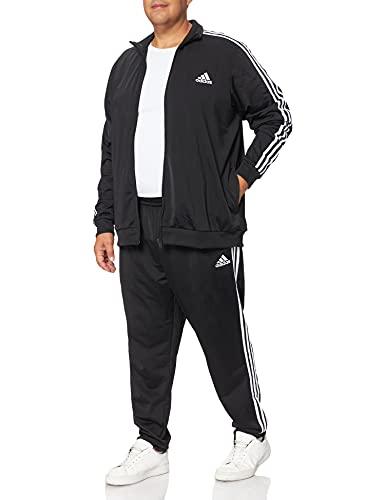 adidas GK9651 M 3S TR TT TS Tracksuit Mens top:Black/White Bottom:Black/White 7