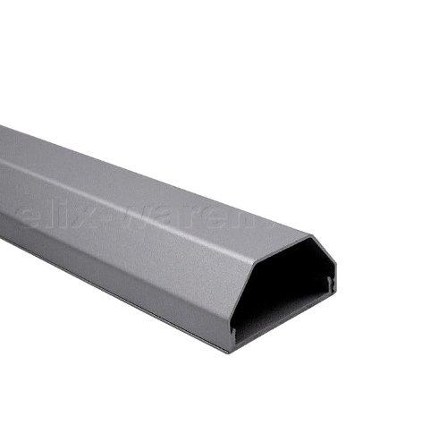 Canalina copri-cavi in alluminio, colore argento, 100cm