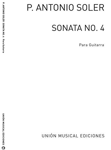 Antonio Soler-Sonata No.4 Bolero-Gitarre-BOOK