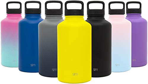 Simple Modern 40 Ounce Summit Water Bottle - Stainless Steel Liter Flask +2 Lids - Wide Mouth...