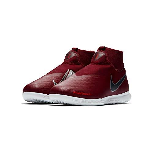 Nike Jr Phantom Vsn Academy DF IC, Zapatillas de fútbol Sala Unisex niño, Multicolor (Team Red/Mtlc Dark Grey/Bright Crimson 606), 33.5 EU