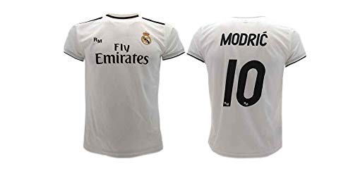 Camiseta oficial del Real Madrid Luka Modric, para niños, 2018-2019, (L)