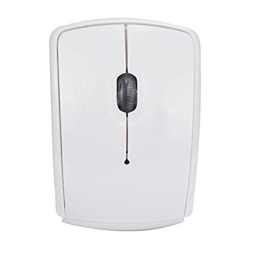 Maus Kabellose 2.4G kabellose Faltbare Faltbare optische Maus für Microsoft Laptop Notebook (M,Weiß)