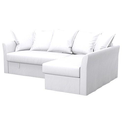 Soferia - IKEA HOLMSUND Funda para sofá Esquina, Eco Leather White