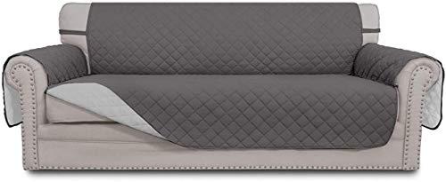 Mazu Homee Juego de 3 sofás de arena Padro, resistente al agua, funda de muebles, lazo flexible, aplicable a mascotas, niños, gatos y perros (sofá, chocolate y beige)