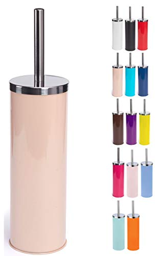 MSV Scopino per WC in Acciaio Inox, Colore Beige, 30 x 20 x 15 cm
